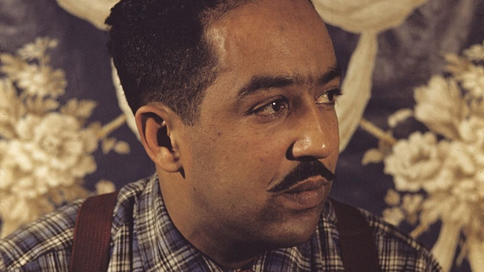 Langston Hughes looking off into the distance